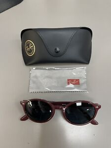 RARE New $144 Ray Ban RB4315F Bordeaux Burgundy Dark Gray Classic Sunglasses