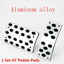 2X Universal AT Pedals Pads Stainless+Rubber Car Gas Brake Pedal Non-Slip Covers