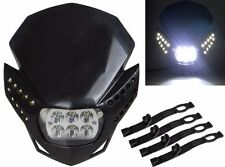 LED HeadLight Street Fighter Dirt Bike For XR CRF CBR KTM Ninja KLX ZX6R EX250