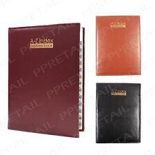 Large Premium A-Z Index +QUALITY PADDED ADDRESS BOOK+ Phone Desk Organiser