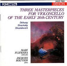 Mari Fujiwara Jacques Rouvier three masterpieces Debussy Stravinsky CD Japan