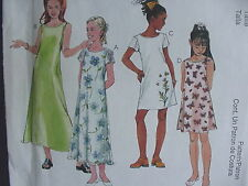McCall's Pattern 2074, Girl's Dress, 2 Lengths & Styles, Sizes 7,8,10; 1999
