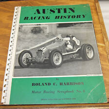 1949 Book //  AUSTIN RACING HISTORY  //  AUTOMOBILE