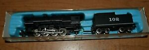 N Scale Atlas 2111 ATSF Santa Fe 0-8-0 Steam Locomotive #102