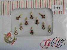 Crystal Diamante BINDI Stick On Bollywood Indiano BODY TATTOO ART GEM JEWEL gl497