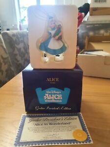 Disney Grolier Presidents Edition Christmas Ornament  Alice In Wonderland