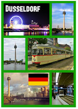 DUSSELDORF, GERMANY - SOUVENIR NOVELTY FRIDGE MAGNET - SIGHTS / FLAGS - NEW