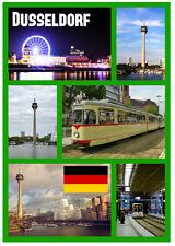 DUSSELDORF, GERMANY - SOUVENIR NOVELTY FRIDGE MAGNET - SIGHTS / FLAGS - NEW