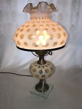 """Fenton Art Glass French Opalescent Coin Dot Parlor Boudoir Lamp 20"""" Pickup Only!"""