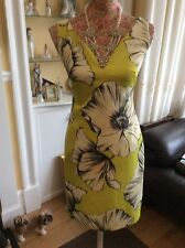 monsoon Bella Green Floral  Wiggle dress size 8 Bnwt  Posting Daily Hols 9/5