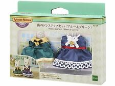 Sylvanian Families Dress Up Set Blue & Green Td-03 Town Series Calico Critters