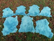 Real Sheepskin Lambskin Natural fur Approx. 80 to 39 3/8in 2.Wahl Turquoise