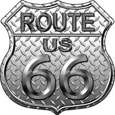 """Route 66 Diamond 11"""" Highway Shield Metal Sign Novelty Retro Home Wall Decor"""