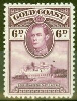 Gold Coast 1938 6d Purple SG126 P.12 Lightly Mtd Mint