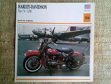 Scheda moto Harley-Davidson Tipo 74 - 1200 - anno 1946
