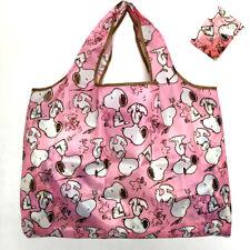 Snoopy Foldable Shopping Nylon Bag ~ pink