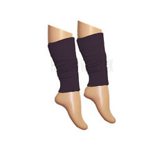 Girls Teen 80's Dance Plain Ribbed Leg Warmers Women Legwarmer Fancy Dress Tutu Black