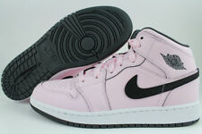 Nike Air Jordan 1 Mid Espuma Rosa/Negro/Blanco Retro Alta Hi Mujeres Niñas Tamaño de la Juventud