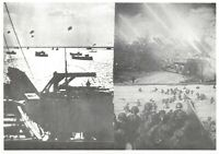 Postcard, WW2 D-Day June 6th 1944 Multi View, Ships of the Invasion Fleet 33Na