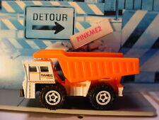 2019 MBX CONSTRUCTION design TURF HAULER☆white/orange dump truck☆Matchbox LOOSE