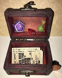 Custom Dollhouse Miniature Harry Potter Sorcerer's Stone Trunk Daily Prophet ETC