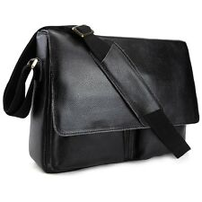 "Men Real Leather Messenger Shoulder Bag Briefcase 13"" Laptop Satchel Saddlebag"