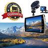 4.0'' 1080P Dual Lens Dash Cam Car DVR Video Recorder 170° Reversing Camera