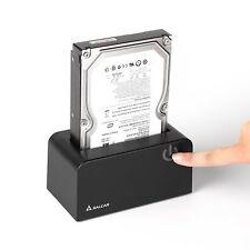 USB 3.0 externe Festplatten-Dockingstation für 2,5 3,5 Zoll SSD HDD SATA schwarz