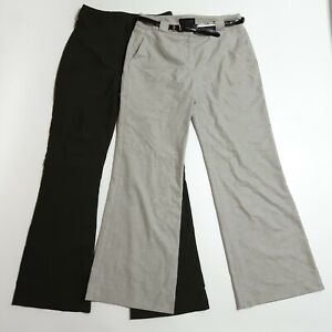 2 Pairs Bootcut Trousers Size 8 W26 L30 Bundle Coast Bay Grey Green Work/Casual