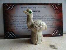 *Ostrich* Carved Stone Figurine Totem (1) Free Bonus Look Wiccan Pagan Gift
