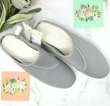 Crocs LiteRide Womens Slip On Clogs Mules Shoes Size 11 Gray White 205105