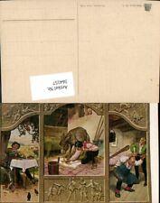 564157,Künstler AK Paul Hey Märchen Tischlein Deck dich Esel