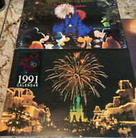 5 Vintage UNUSED Disney Calendar Lot  Walt Disney World 1991,92,94,95,96