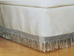 Shantung Shawl Ivory Twin Bedskirt Bed Skirt NIP