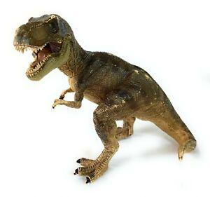 Papo T-Rex Toy Dinosaur Figurine Brown Tyrannosaurus Rex 2005 Retired Jurassic