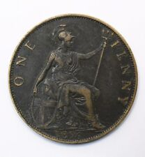 1896 UK One 1 Penny - Victoria 3rd portrait - VF - Lot 201