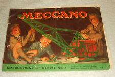 Meccano Outfit No. 2 Instructions.