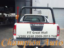 3'' Black Powder Coated Steel Ladder Rack Great Wall V200 V240 2009-2015 TUB