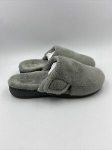 Vionic Womens Gemma Plush Grey Slippers Size 7 M , 467