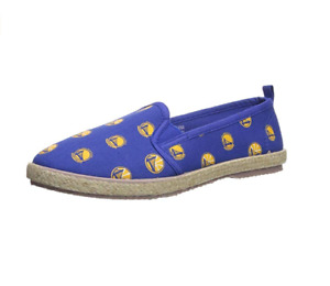 FOCO Women's NBA Golden State Warriors Espadrille Canvas Shoe