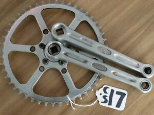 VINTAGE STRONGLIGHT 49D CHAINSET 48t 50mm BCD 170mm CRANKS  9/16ths  (CS17)