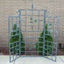 Garden Trellis Climbing Grow Plant Vineyards 71-in W x 71-in H Verdi Grey Leaf