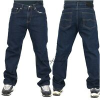 Mens Peviani jeans, indigo g denim pants, straight, loose fit hip hop star wash