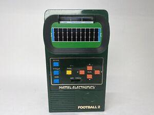 Original 1978 Mattel Classic FOOTBALL 2 Electronic Handheld TESTED   Has Wear