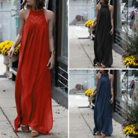 S-5XL Women Party Evening Maxi Dress Summer Beach Casual Long Sundress Oversized