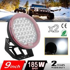 """2x185W 9"""" phare de travail LED Feux pour jeep 4x4 quad tracteur remorque"""