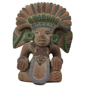 Terracotta Clay Figurine Statue Mexican Mayan Corn Deity