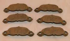 Antique East Lake Cast Iron Drawer Pulls - Set of 6