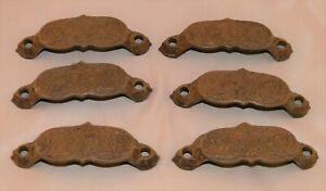 Antique East Lake Cast Iron Drawer Pulls - Set of 6