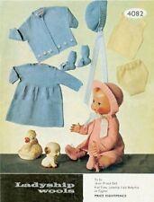 Doll Knitting Pattern 40 & 48 cms DOLL Copy Many Items GORGEOUS Set